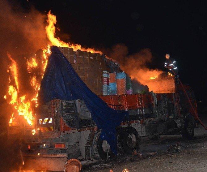 Bursa'da Aynı Mahallede 3 Araç Kundaklandı