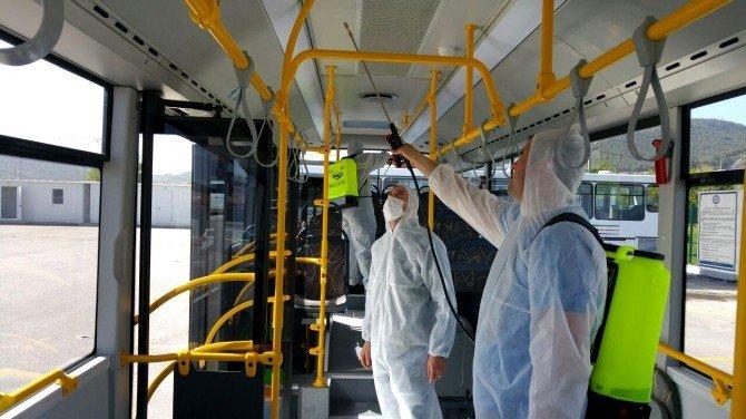 Toplu Ulaşım Araçları Dezenfekte Edildi