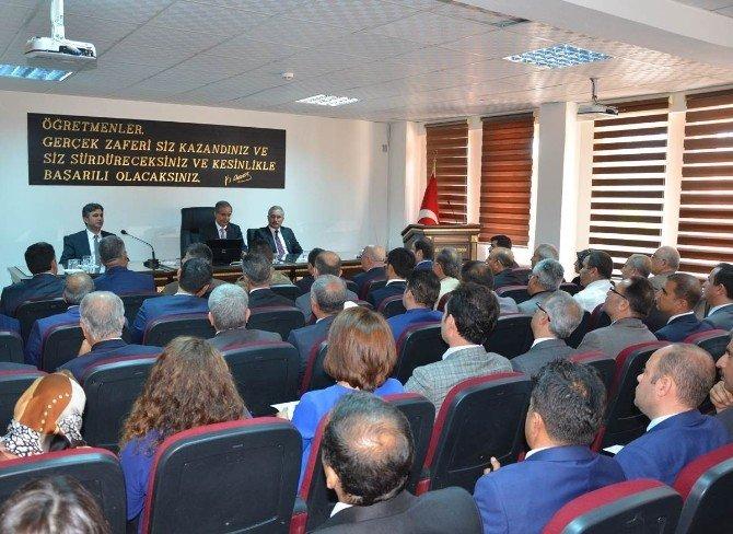 Vali Tapsız İle Milli Eğitim Bakanlığı Yetkilileri Ve Okul Müdürleriyle Buluştu
