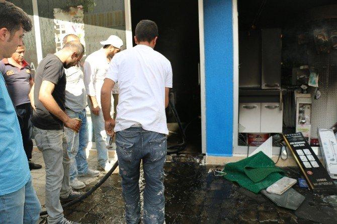 Nazilli'de İş Yeri Yangını