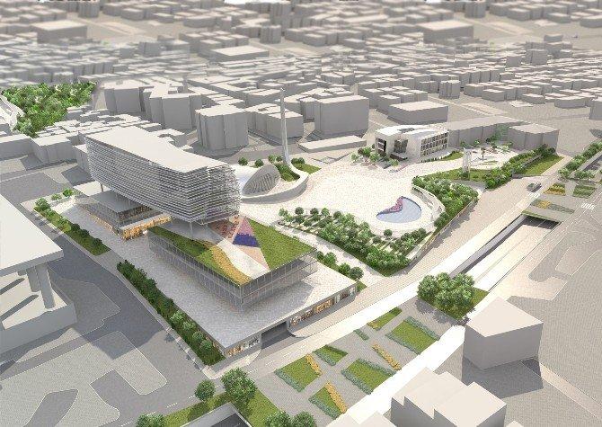 Bursa Kent Meydanı'nda Kentsel Dönüşüm Sürüyor