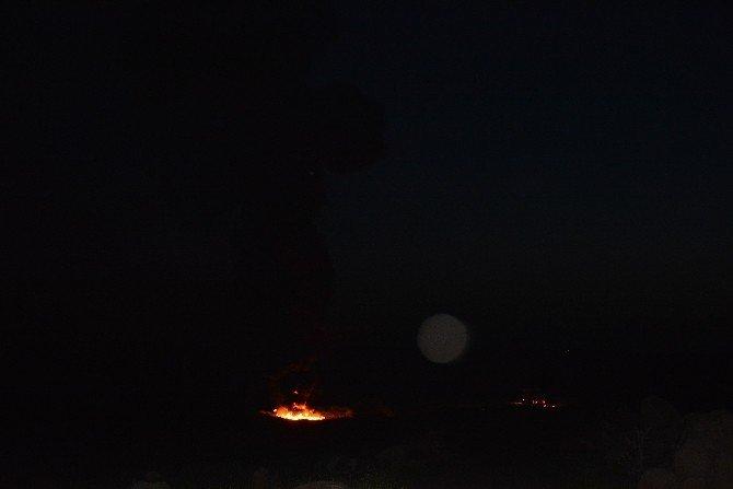 Siverek BOTAŞ Hattında Yangın