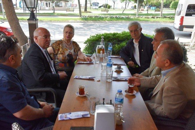 Başkan Eşkinat STK Buluşmalarına Emekli Öğretmenler Derneği İle Devam Etti