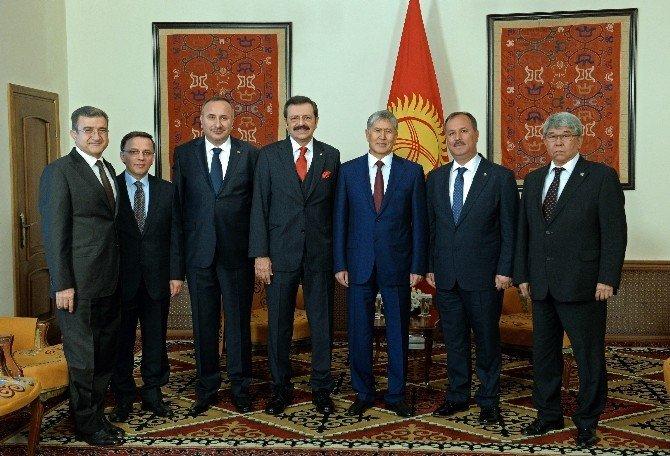 DTO Başkanı Özer, Kırgızistan'da İncelemelerde Bulundu