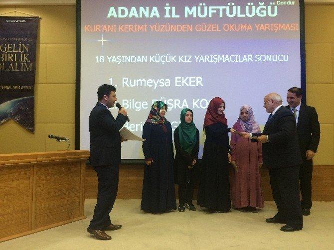 Adana'da Kur'an-ı Kerim'i Güzel Okuma Yarışması