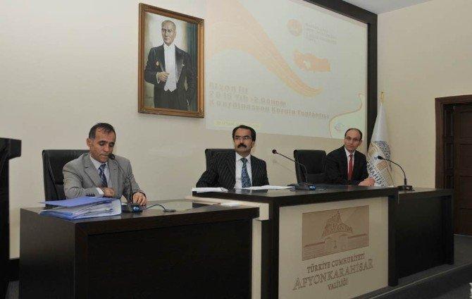 """Afyonkarahisar """"2016 Yılı 2. Dönem İl Koordinasyon Kurulu"""" Toplantısı Yapıldı"""