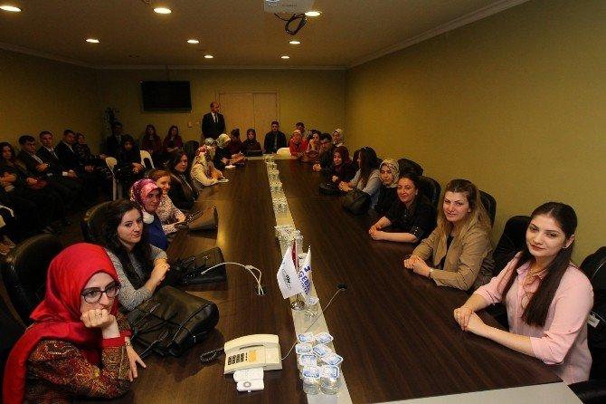 Genç Öğretmenlerden Başkan Köşker'e Ziyaret