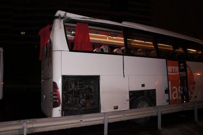 Kontrolden çıkan otobüs dehşet saçtı: 1 ölü, 4 yaralı