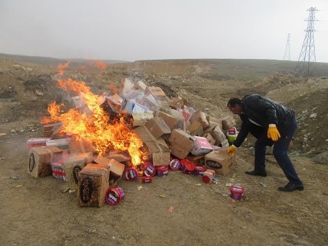 Van'da son kullanma tarihi geçmiş gıdalar imha edildi