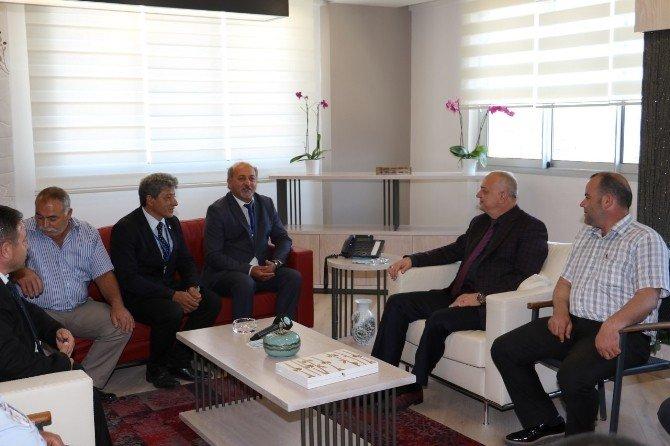 Başkan Ergün, Kardeş Şehrin Muhtarlarını Ağırladı