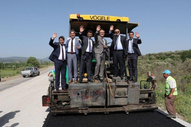 Soma'da Asfalt Sezonu Başladı