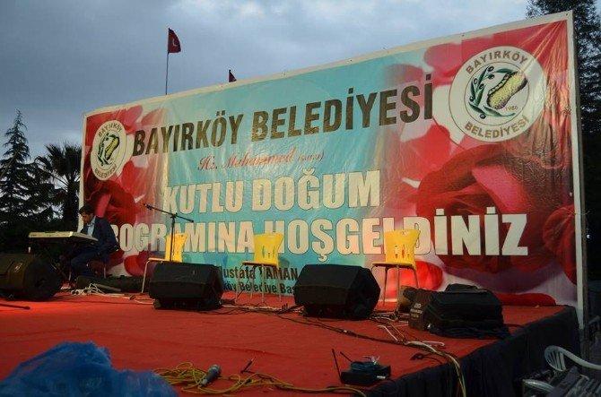 Bayırköy'de Muhteşem Kutlu Doğum Kutlama Gecesi