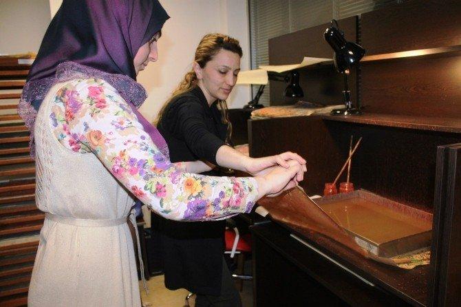 Sedivan Belediyesi Tarafından Hat Ve Ebru Dersleri Veriliyor