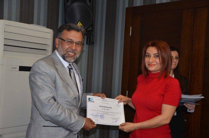 Girişimciler sertifikalarını aldı