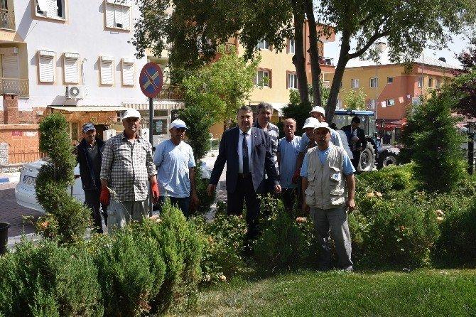 Başkan Çerçi Park Bahçe Çalışmalarını Yerinde İnceledi
