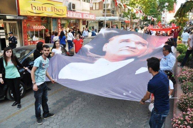 Ödemiş'te Ulusal Egemenlik Yürüyüşü