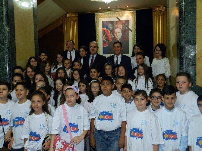 Başbakan Yardımcısı Kurtulmuş, Kosova Cumhurbaşkanı Thaçi'yle Görüştü