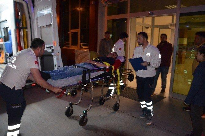 Çöp Kamyonundan Düşen İşçi Yaralandı