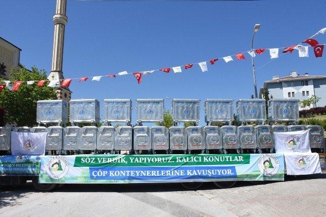 Düzce Belediyesi 950 Çöp Konteyner Dağıtıldı