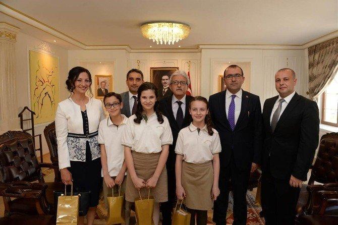 Minik Öğrencilerden Edirne Vali Vekili Ergün'e Ziyaret
