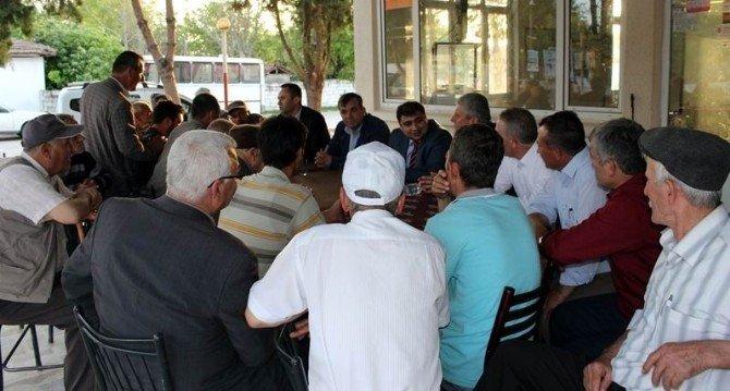 Kaymakam Kızıltoprak Mahalle Mahalle Gezerek Genç Çiftçileri Bilgilendiriyor