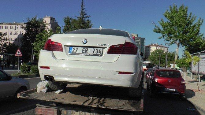 Gaziantep'te 6 Araç Birbirine Girdi: 6 Yaralı