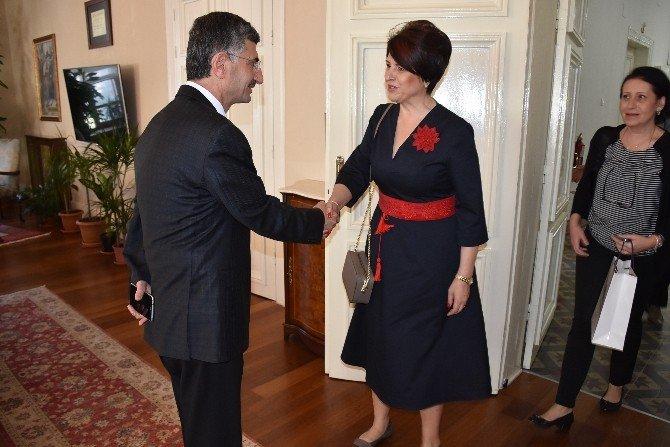Romanya İzmir Başkonsolosu Stefan'dan Vali Bektaş'a Ziyaret