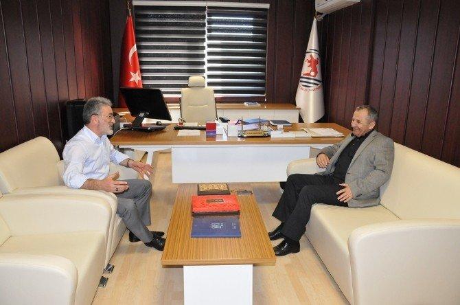 Tuğgeneral Mustafa Doğru OMÜ'yü Ziyaret Etti