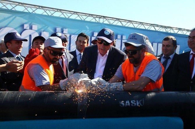Kaynarca'ya 45 Kilometrelik İçmesuyu Hattı Ve 6 İçme Suyu Deposunun İlk Kaynak Töreni Gerçekleştirildi