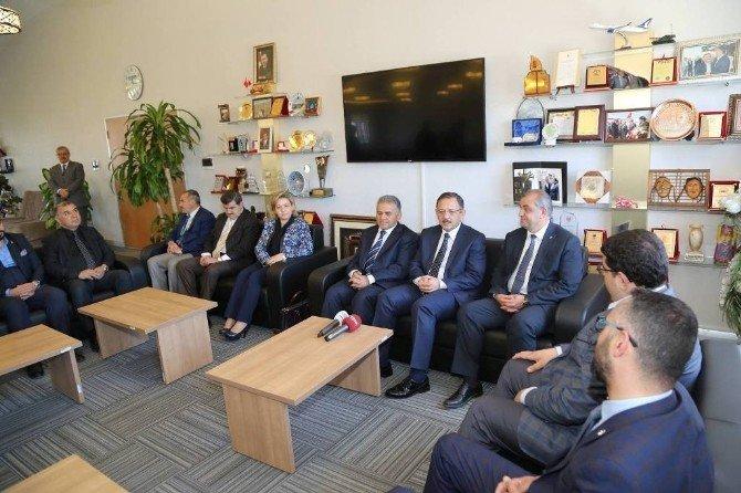 AK Parti Genel Başkan Yardımcı Ve Kayseri Milletvekili Mehmet Özhaseki Melikgazi Belediye Başkanı Memduh Büyükkılıç'ı Ziyaret Etti