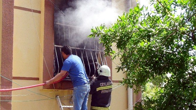 Ceylanpınar TOKİ'de Yangın