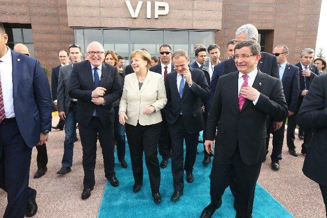 AB Konseyi Başkanı Donald Tusk Ve Başkan Yardımcısı Frans Timmermans Gaziantep'te