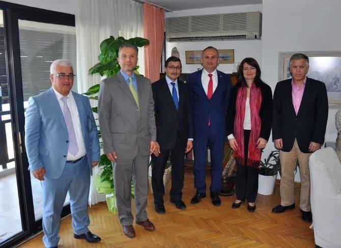 Didim Kaymakamı Ve Ticaret Odası Başkanından Yunanistan İzmir Başkonsolosuna Ziyaret