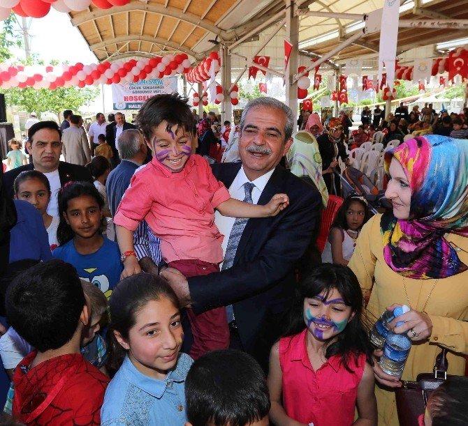 Çocuklar, Haliliye Belediyesinin Çocuk Sokağında Doyasıya Eğlendi