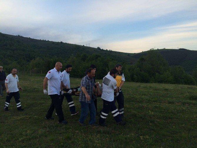 Tarlada Yaralanan Çiftçinin Yardımına Ambulans Helikopter Yetişti