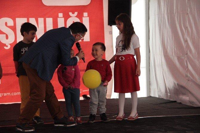 Tuzlalı Çocuklar, 23 Nisan Çocuk Şenliğinde Doyasıya Eğlendi