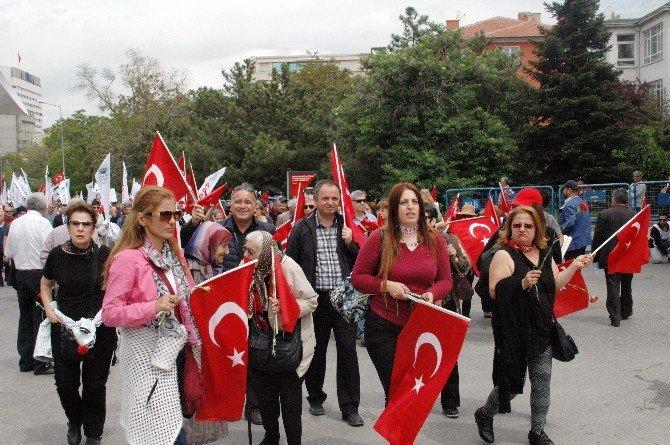 Başkent'te 3 Bin Kişilik Teröre Tepki Yürüyüşü