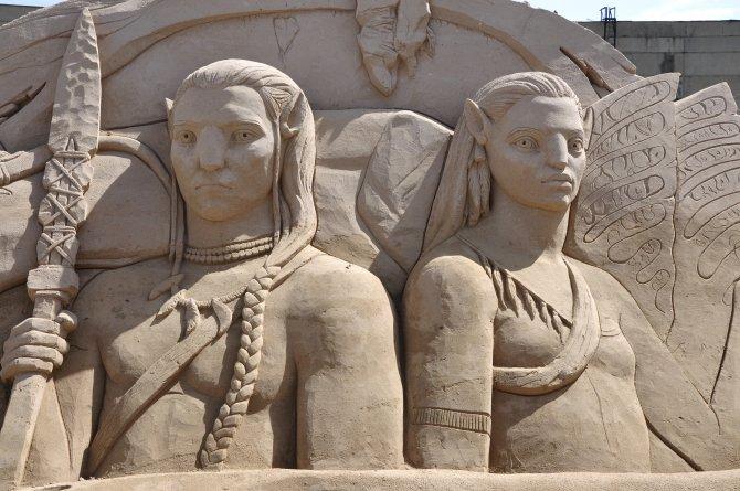 Kumdan Heykeller Festivali Almatı'da kapılarını açtı