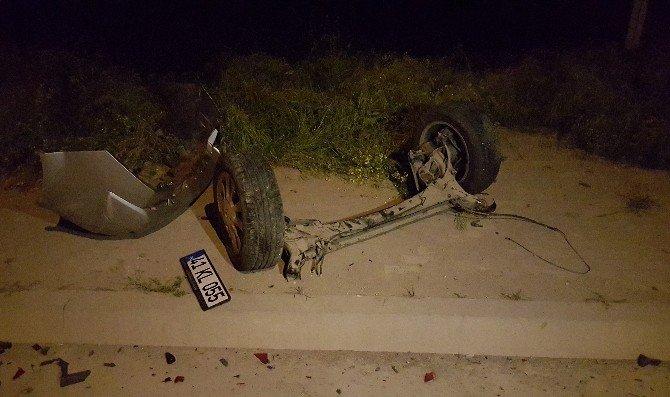 Aşırı Hız Yine Kaza Getirdi: 3 Yaralı