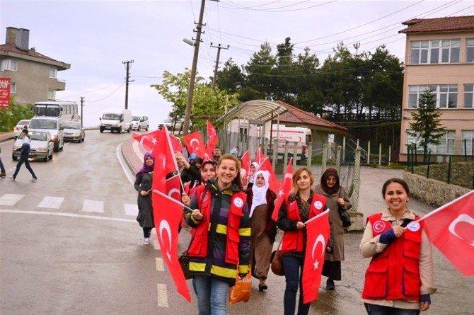 Bartın'da Vefa Yürüyüşü Düzenlendi