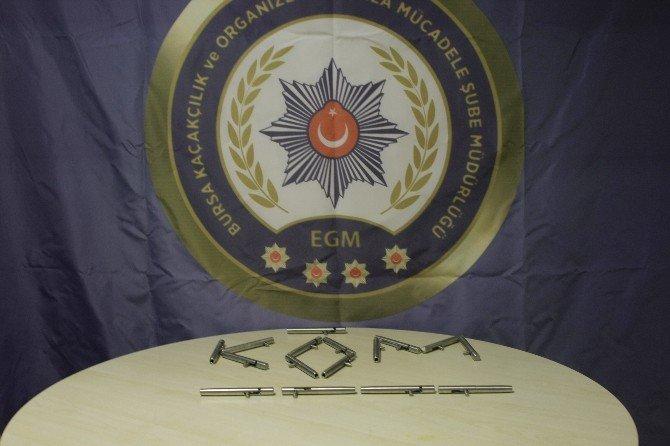 Bursa'da Kalem Görünümlü Suikast Silahı Operasyonu