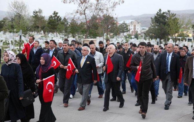 Sivas'ta 57. Alay anısına vefa yürüyüşü