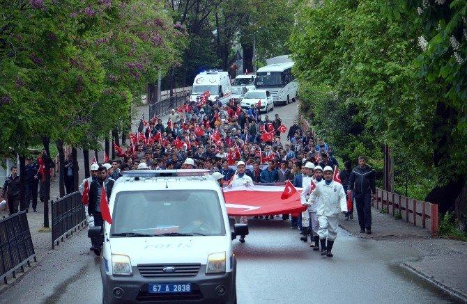 Zonguldak'ta '57. Alaya Vefa Yürüyüşü'