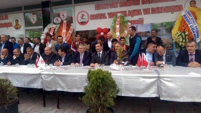 Sarıcaoğlu İstanbul'da Dernek Açılışı Yaptı