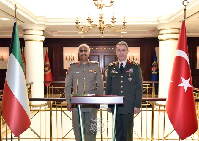 Kuveyt Genelkurmay Başkanı'ndan Hulusi Akar'a ziyaret