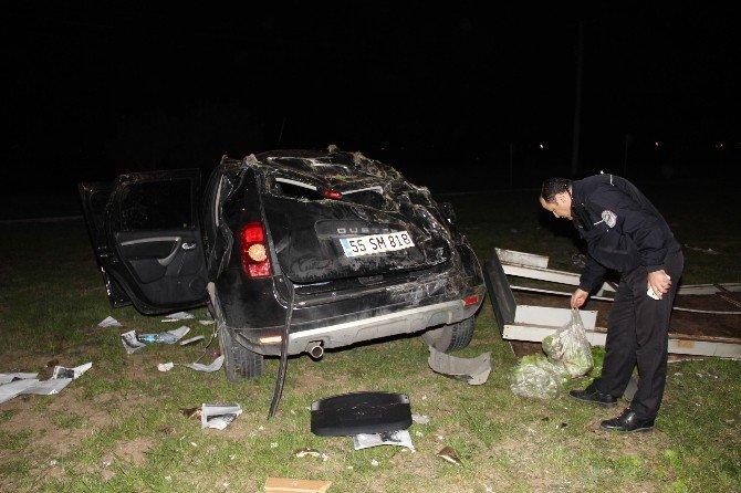 Samsun'da Otomobil Takla Attı: 7 Yaralı