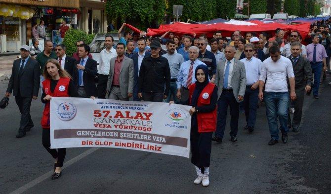 Aydın'da 57. Alay vefa yürüyüşü