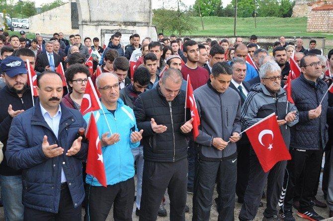 '57. Alay Vefa Yürüyüşü' Yüzlerce Gencin Katılımıyla Gerçekleşti