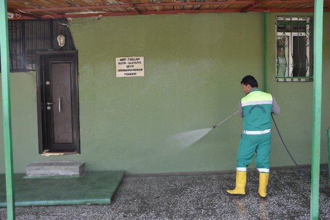 Tarihi Cami Ve Türbelerde Temizlik Çalışması Başlatıldı