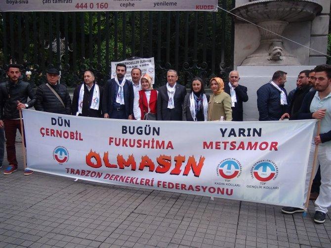 Beyoğlu'nda 'Başka Çernobil olmasın' eylemi